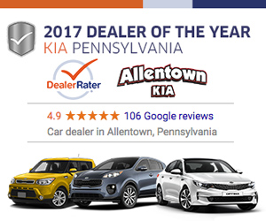 #1 Kia Dealer in PA as voted by DealerRater.com